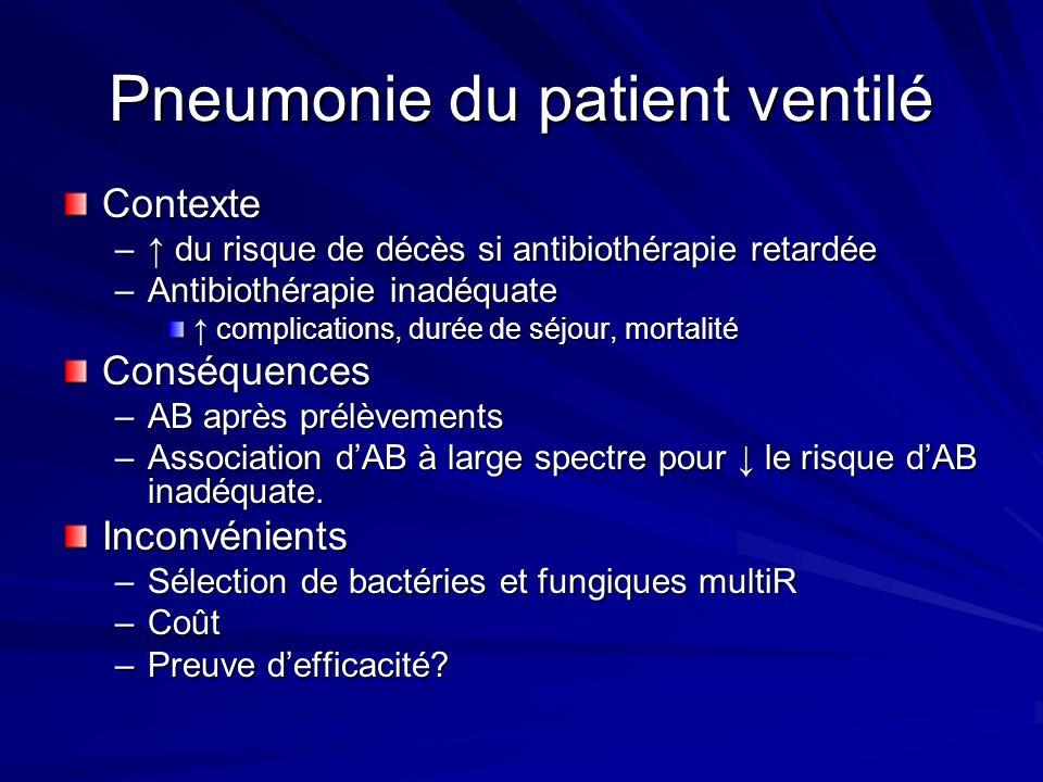 Pneumonie du patient ventilé