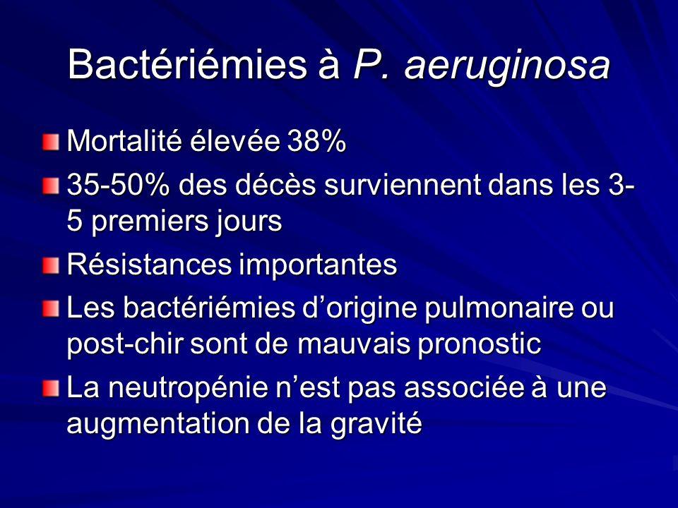 Bactériémies à P. aeruginosa