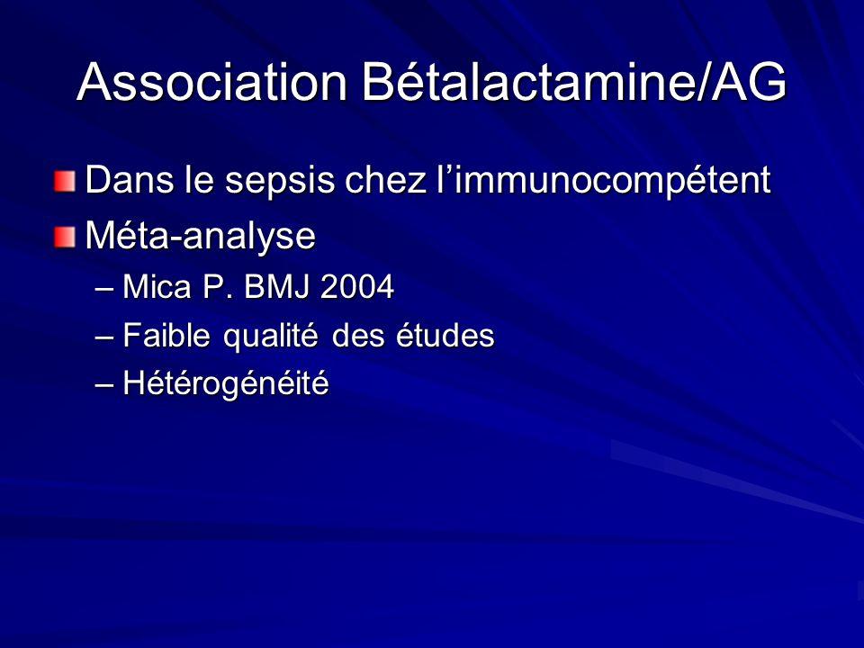 Association Bétalactamine/AG