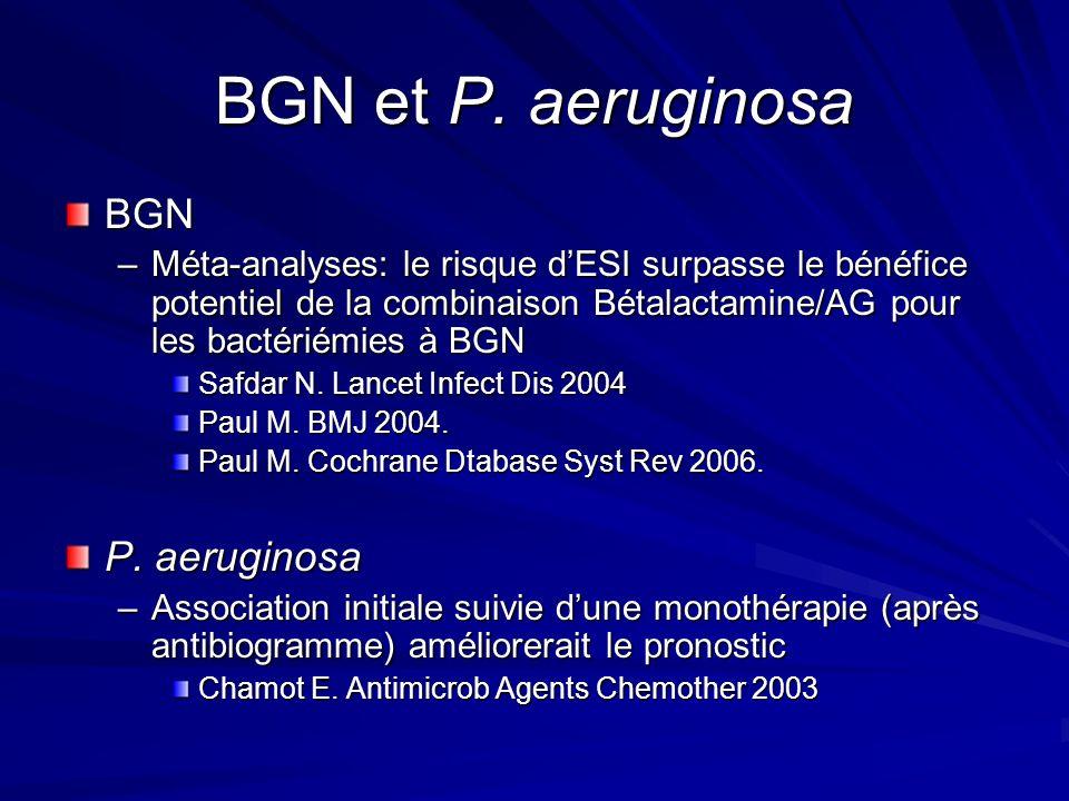 BGN et P. aeruginosa BGN P. aeruginosa