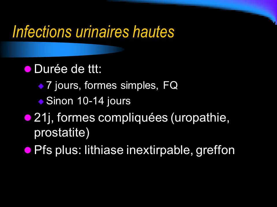 Infections urinaires hautes
