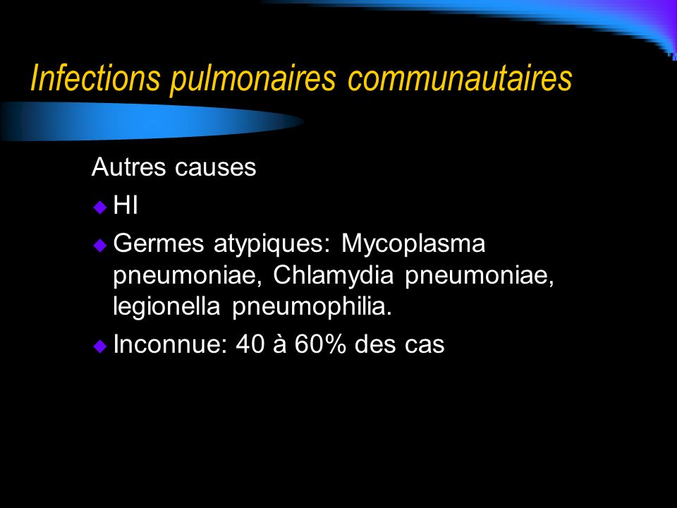 Infections pulmonaires communautaires
