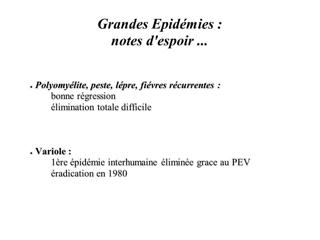 Grandes Epidémies : notes d espoir ...