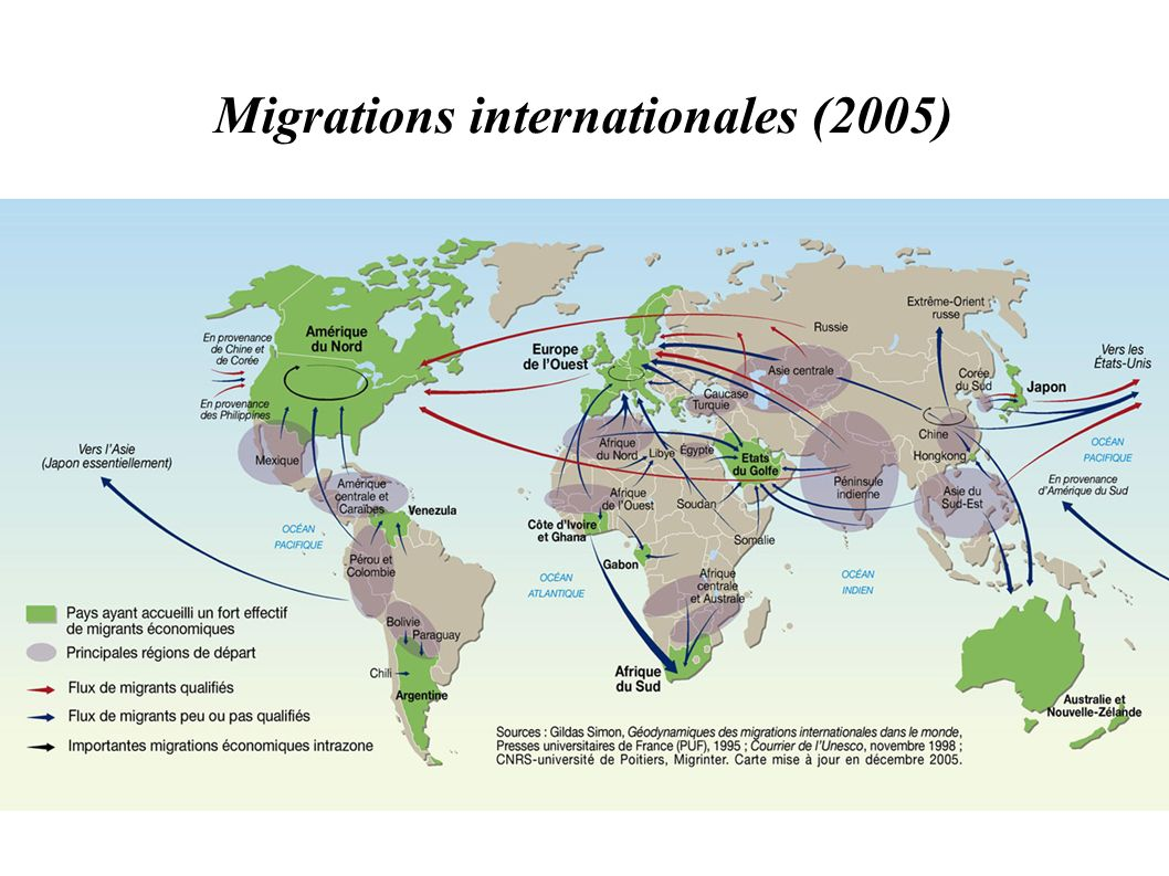 Migrations internationales (2005)