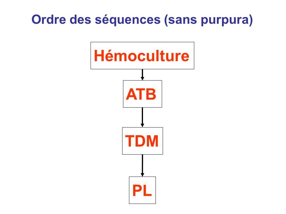 Ordre des séquences (sans purpura)