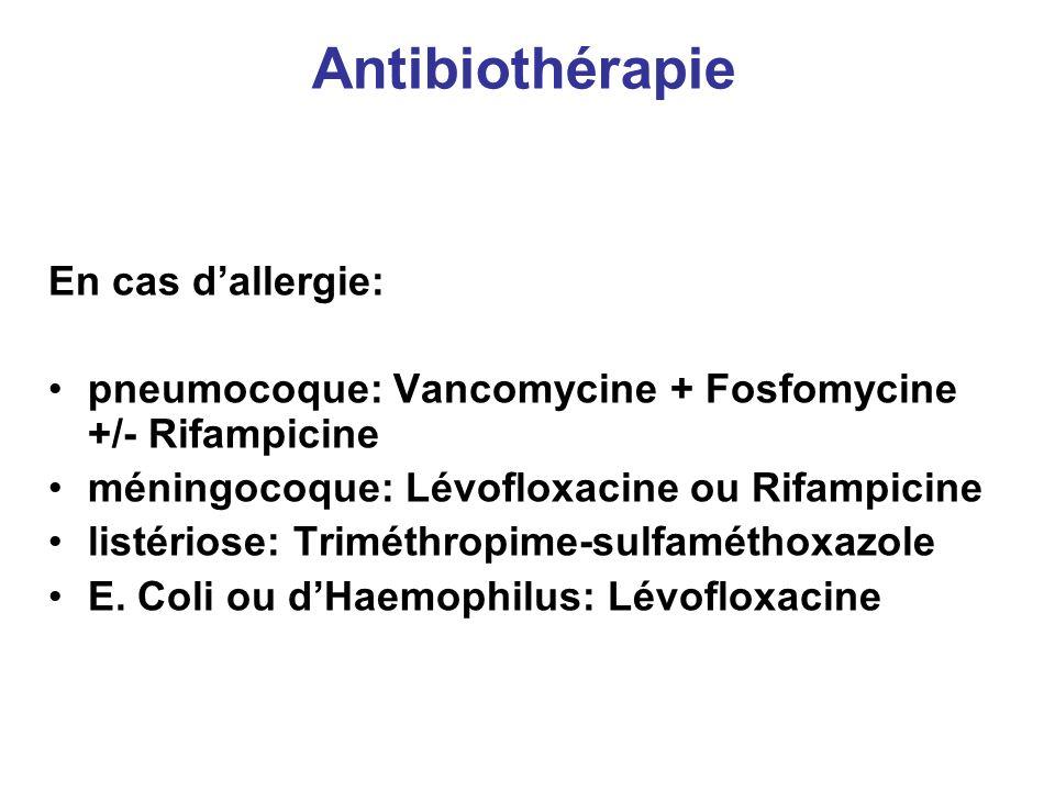 Antibiothérapie En cas d'allergie: