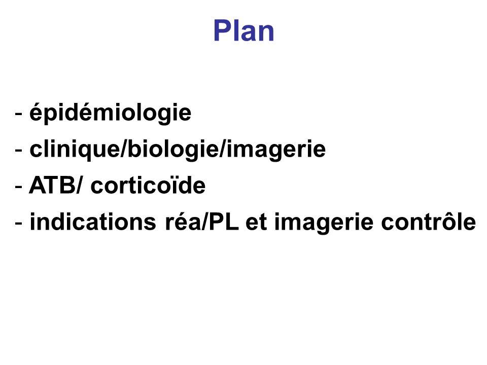 Plan épidémiologie clinique/biologie/imagerie ATB/ corticoïde