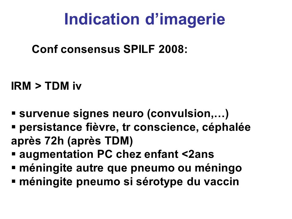 Indication d'imagerie