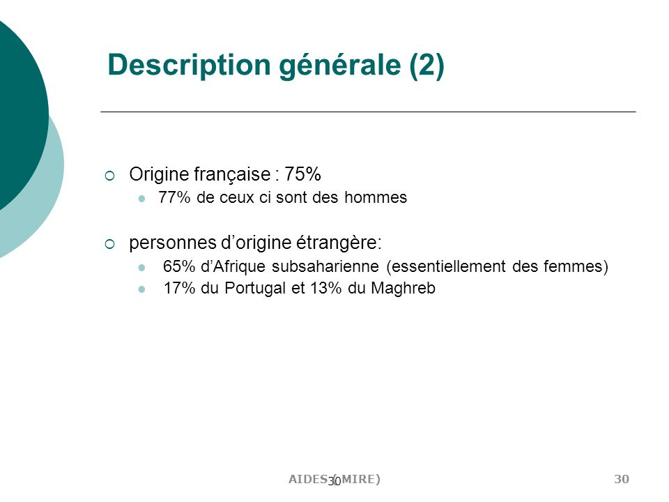 Description générale (2)