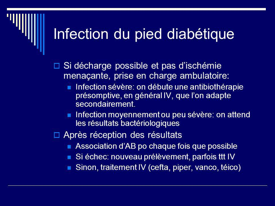 Infection du pied diabétique