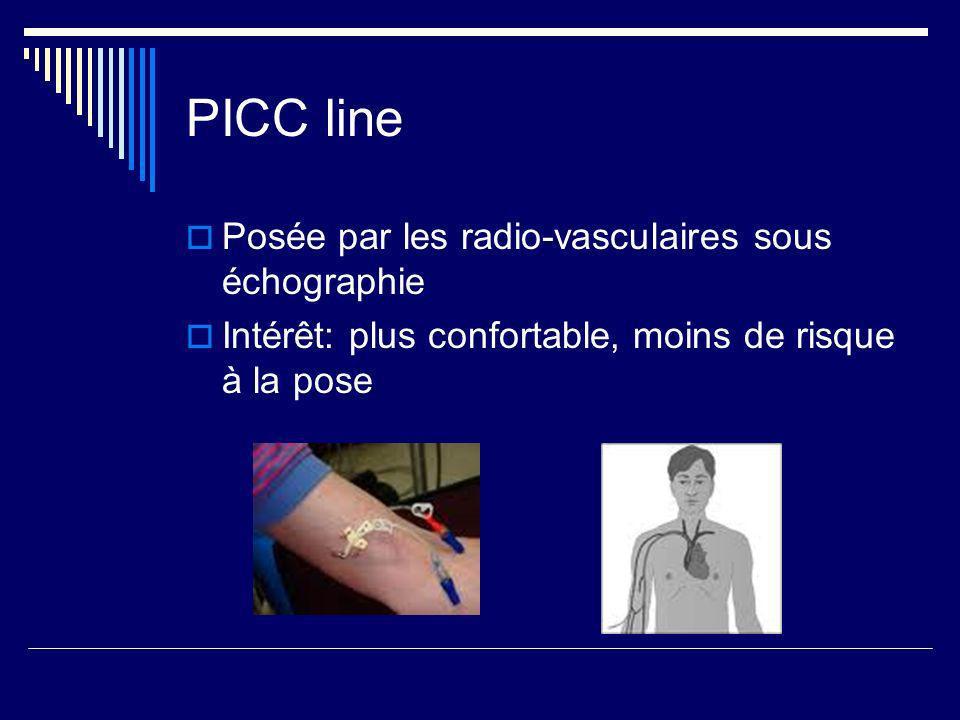 PICC line Posée par les radio-vasculaires sous échographie