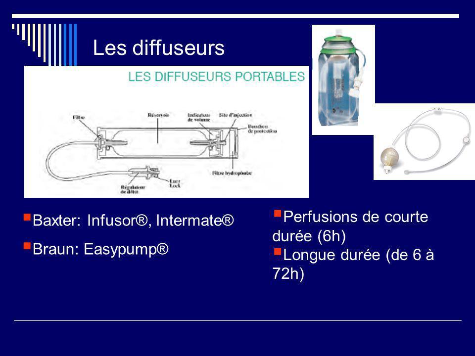 Les diffuseurs Perfusions de courte durée (6h)