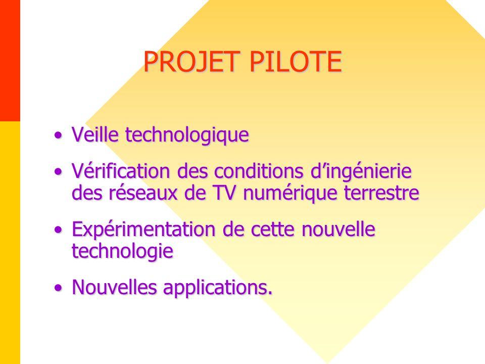 PROJET PILOTE Veille technologique