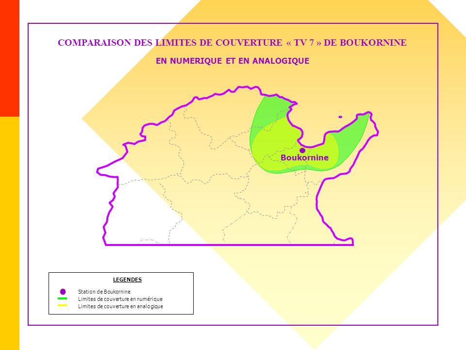 COMPARAISON DES LIMITES DE COUVERTURE « TV 7 » DE BOUKORNINE