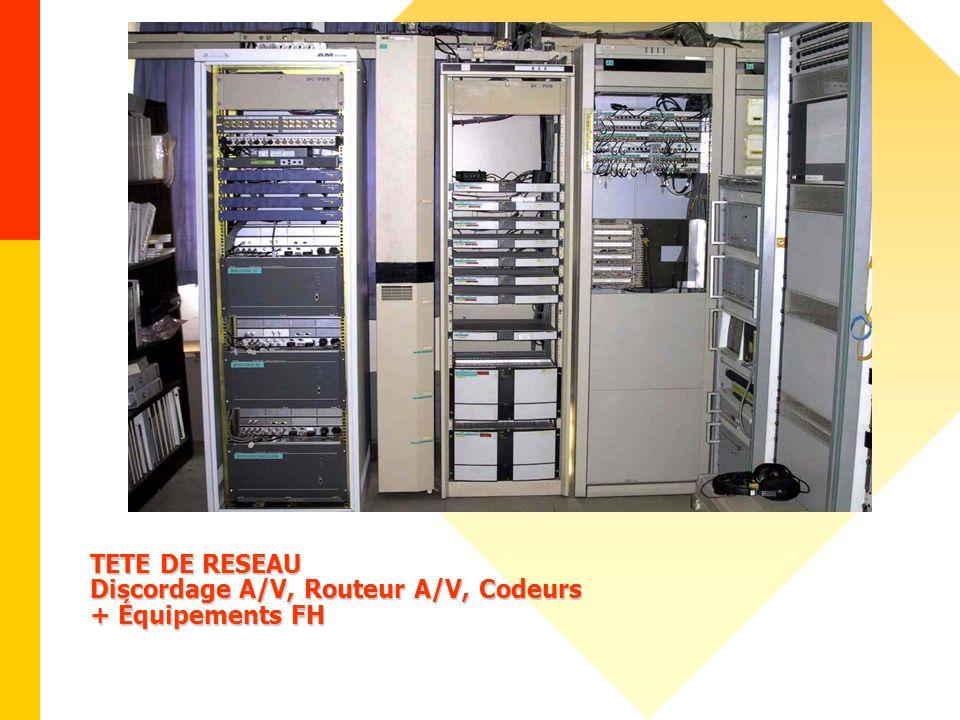 TETE DE RESEAU Discordage A/V, Routeur A/V, Codeurs + Équipements FH