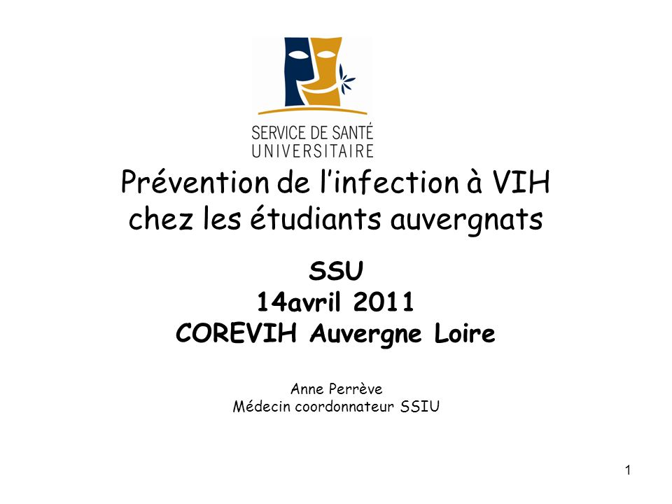 Prévention de l'infection à VIH chez les étudiants auvergnats