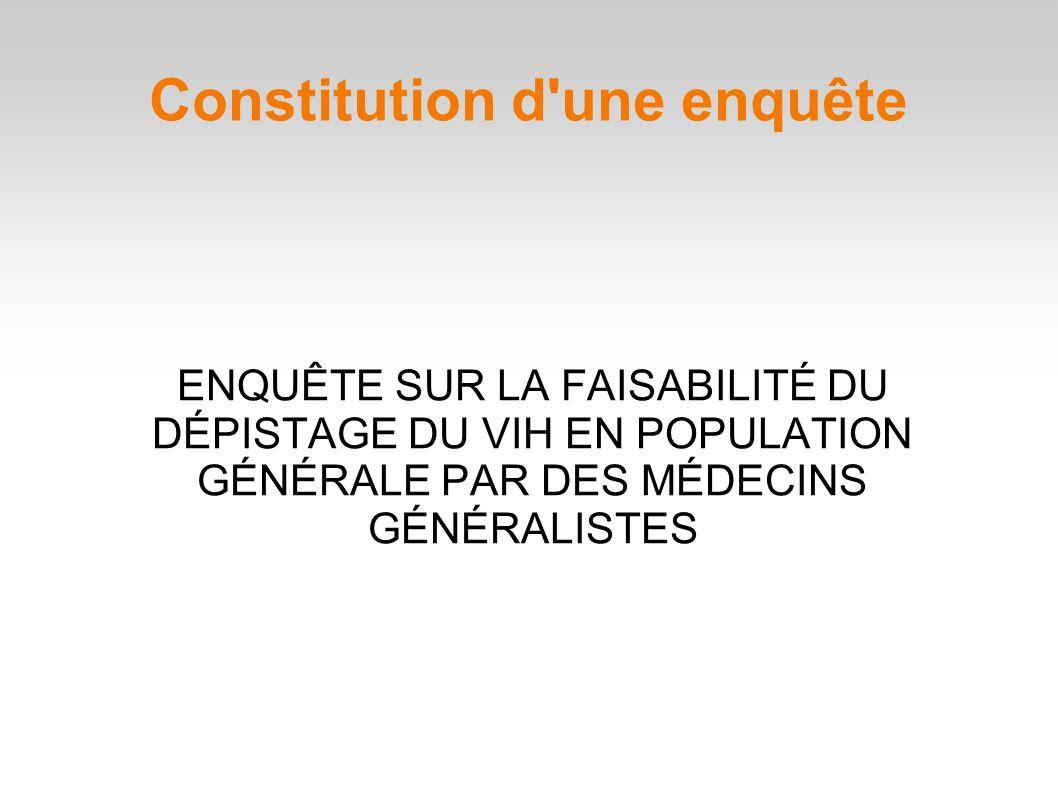 Constitution d une enquête