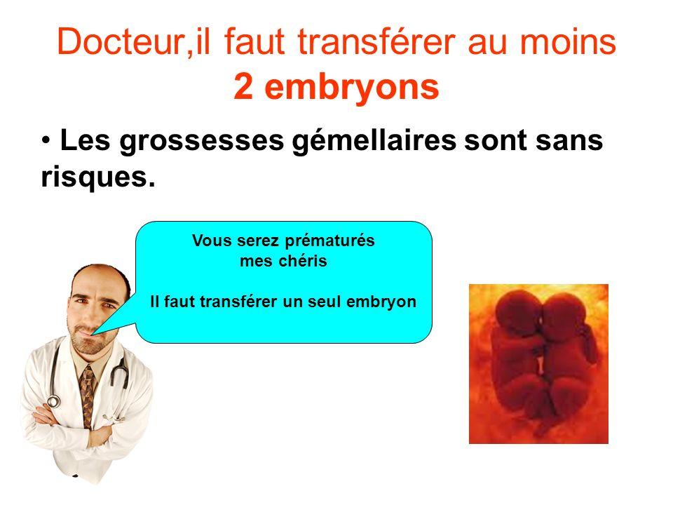Docteur,il faut transférer au moins 2 embryons