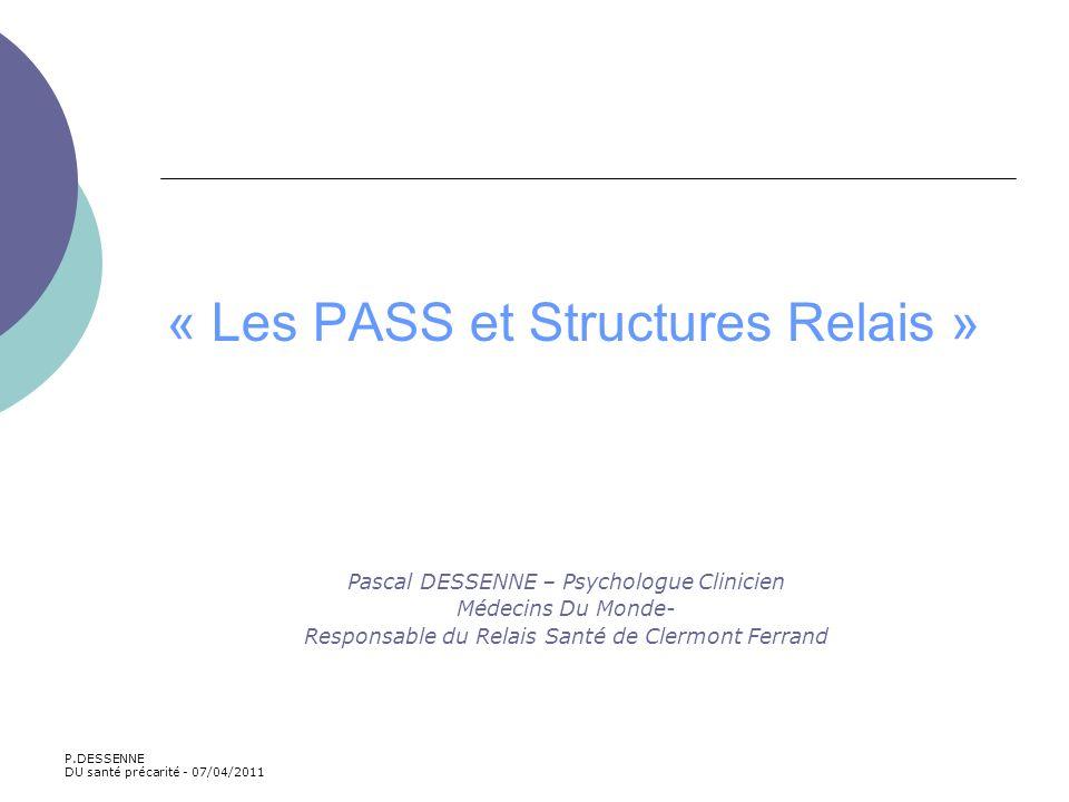 « Les PASS et Structures Relais »