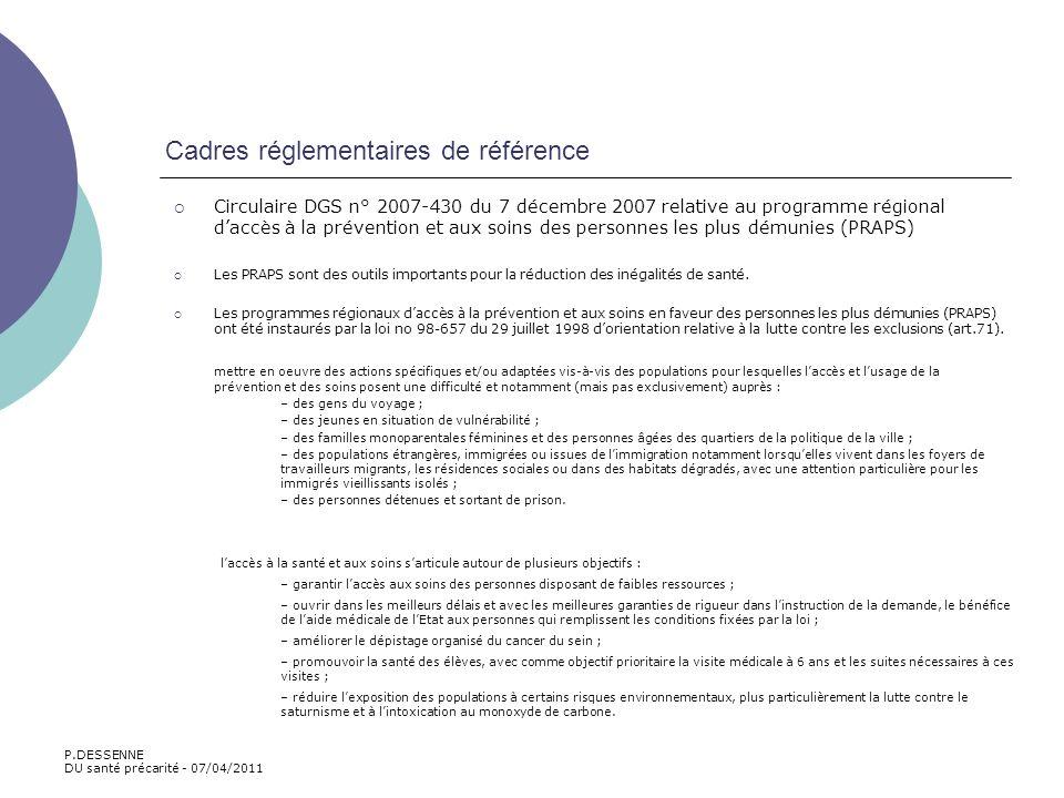 Cadres réglementaires de référence