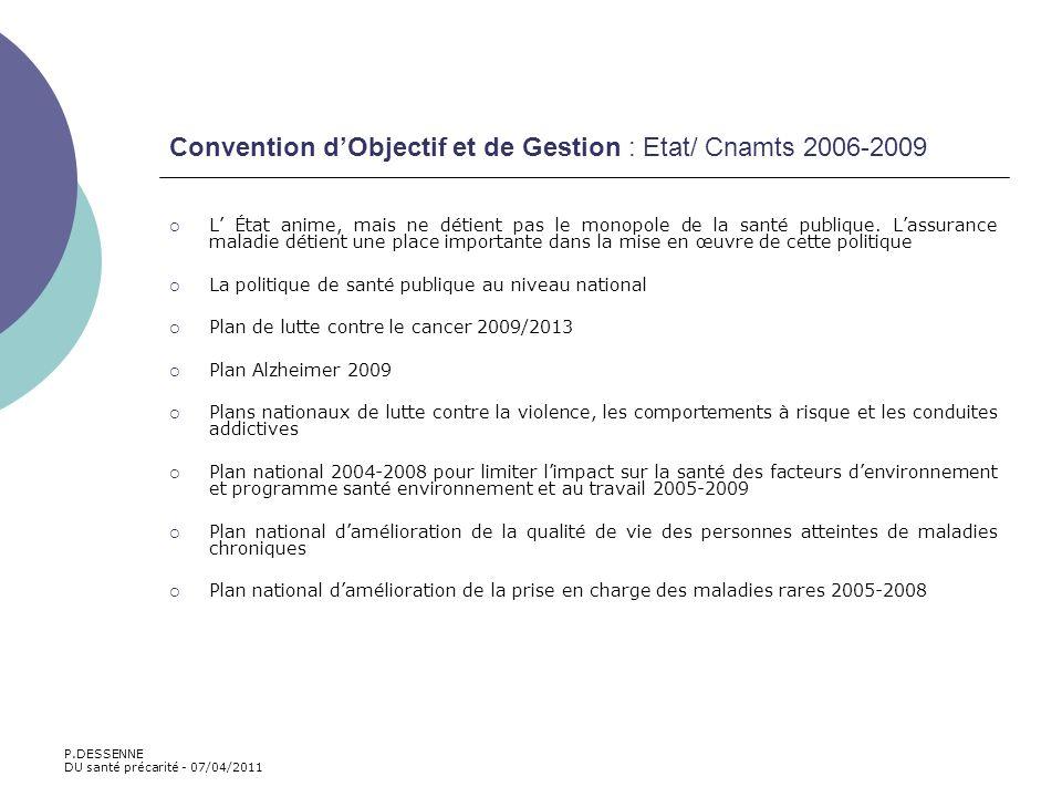 Convention d'Objectif et de Gestion : Etat/ Cnamts 2006-2009