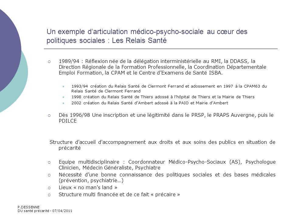 Un exemple d'articulation médico-psycho-sociale au cœur des politiques sociales : Les Relais Santé