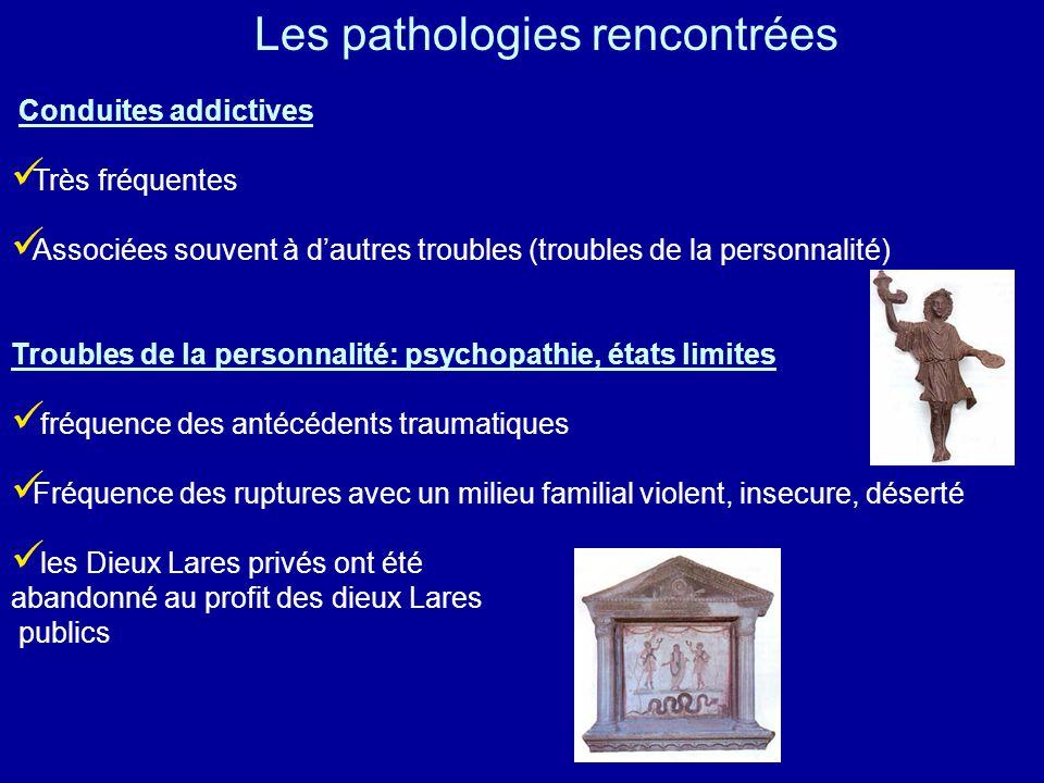 Les pathologies rencontrées