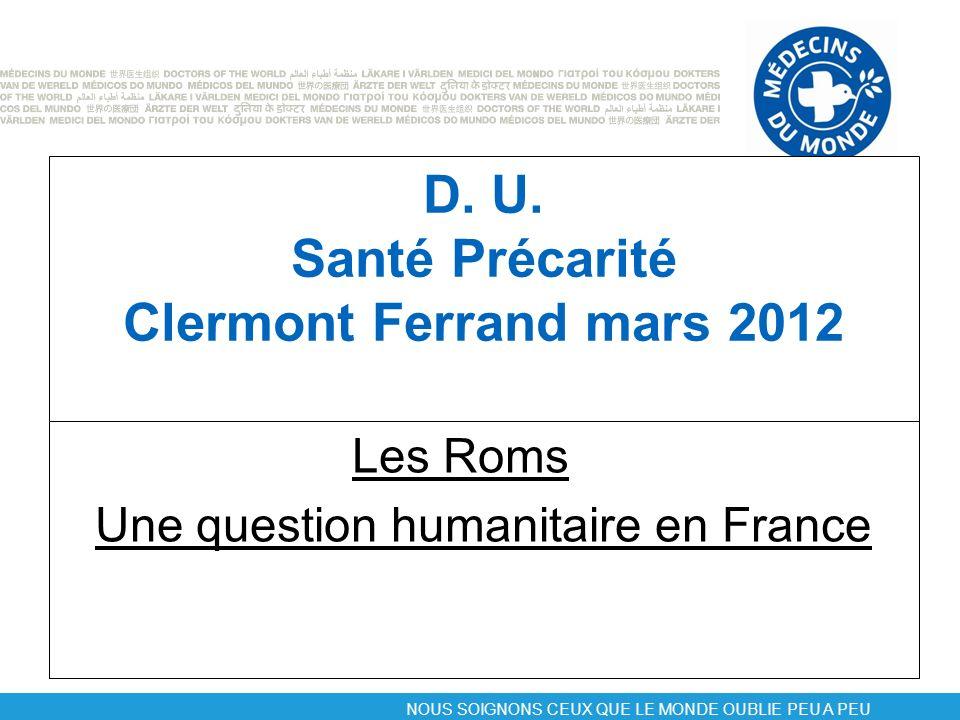 D. U. Santé Précarité Clermont Ferrand mars 2012