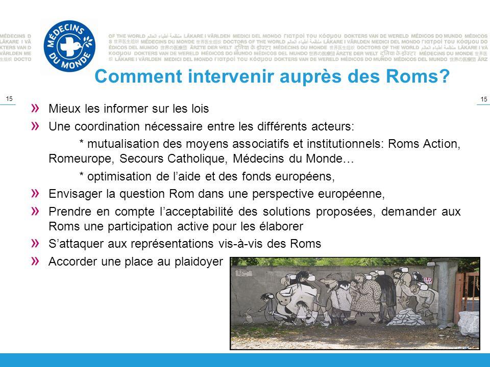 Comment intervenir auprès des Roms