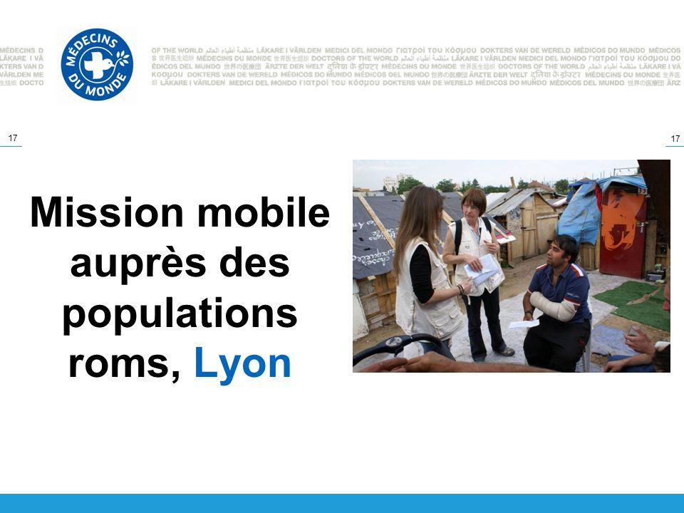 Mission mobile auprès des populations roms, Lyon