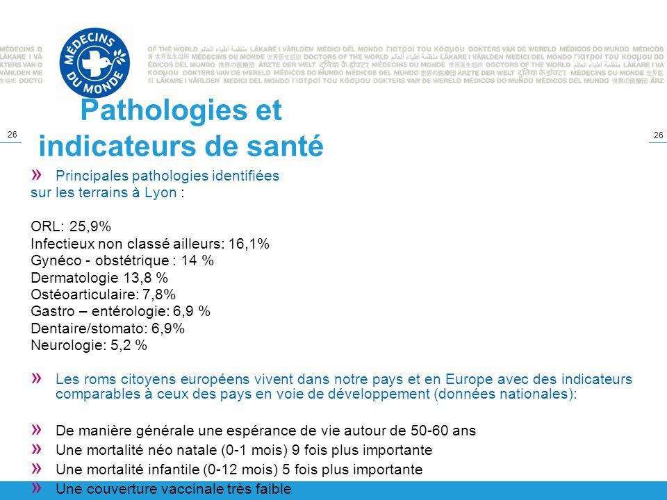 Pathologies et indicateurs de santé