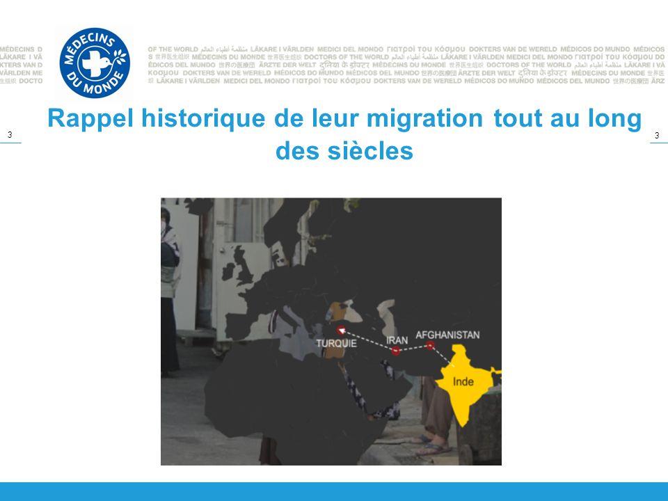 Rappel historique de leur migration tout au long des siècles