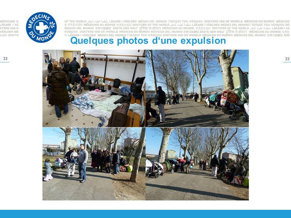 Quelques photos d'une expulsion