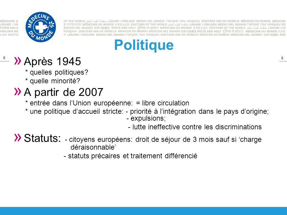 Politique Après 1945 A partir de 2007