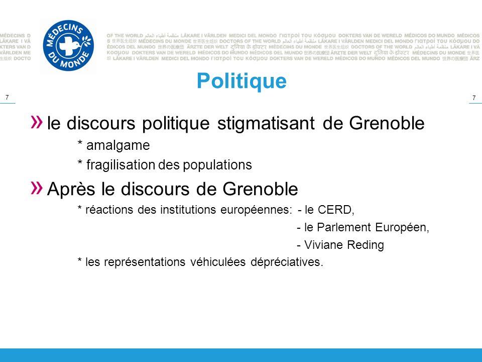 Politique le discours politique stigmatisant de Grenoble