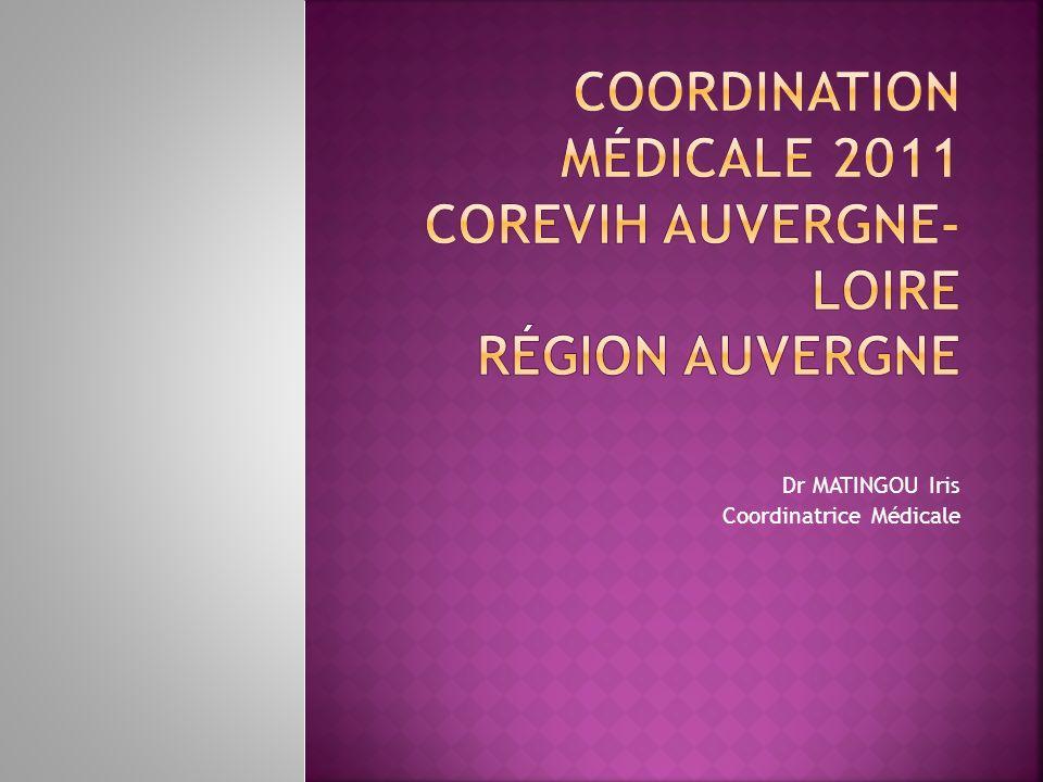 Coordination Médicale 2011 COREVIH Auvergne-Loire Région Auvergne