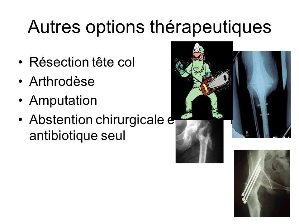 Autres options thérapeutiques
