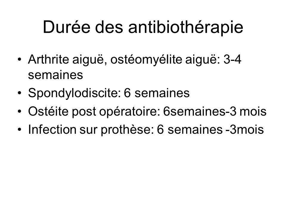 Durée des antibiothérapie