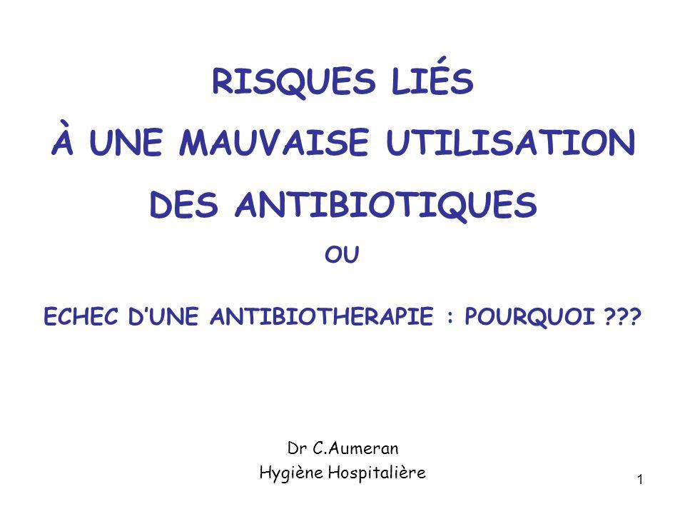 Dr C.Aumeran Hygiène Hospitalière
