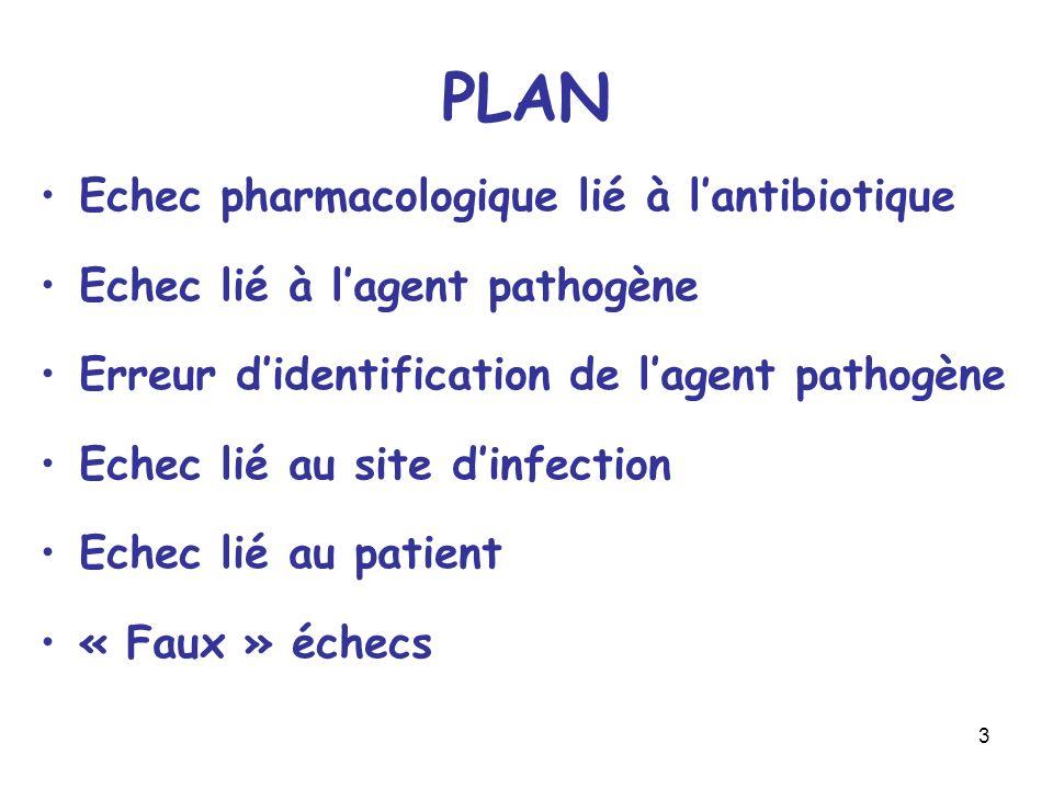 PLAN Echec pharmacologique lié à l'antibiotique