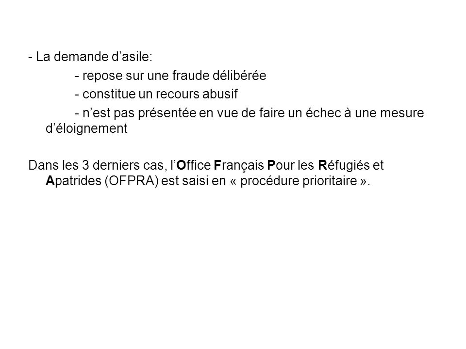 Migrants etrangers en situation precaire ppt t l charger - Office francais de protection des refugies et apatrides ...