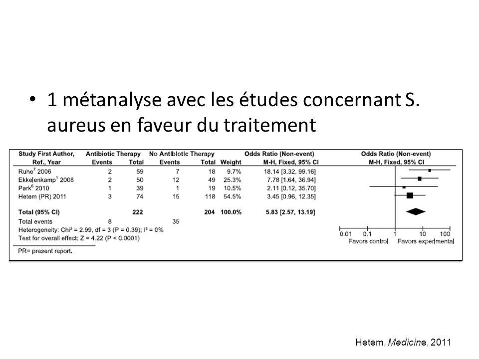 1 métanalyse avec les études concernant S