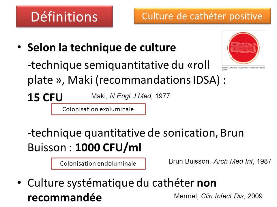 Définitions Selon la technique de culture