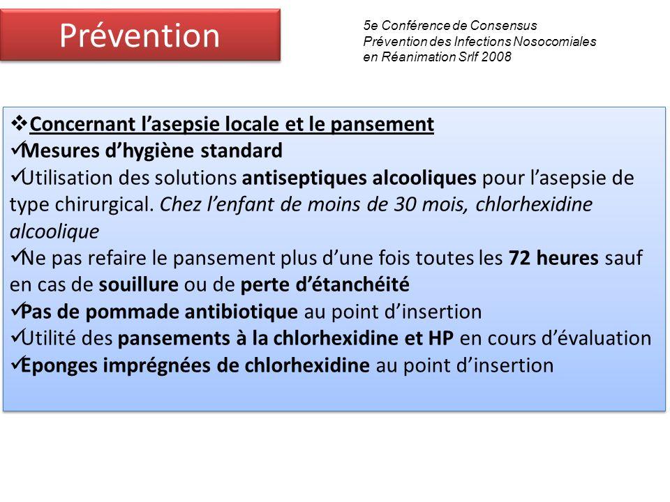 Prévention Concernant l'asepsie locale et le pansement