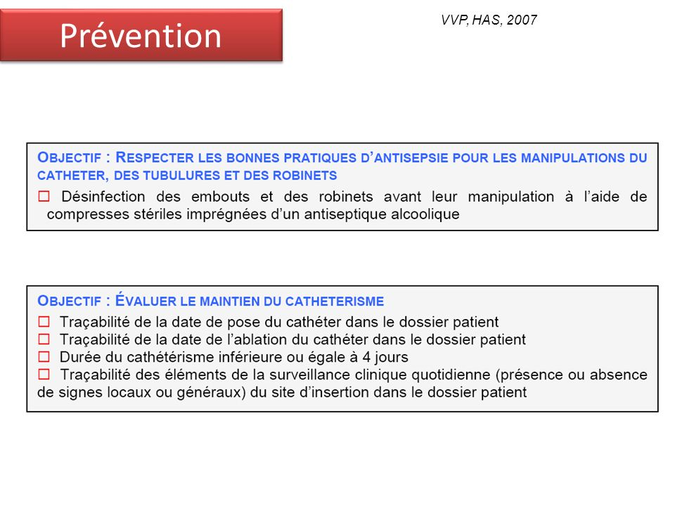 Prévention VVP, HAS, 2007