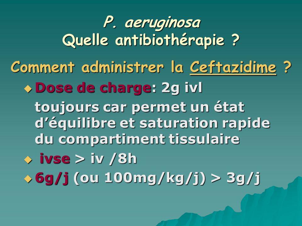 P. aeruginosa Quelle antibiothérapie