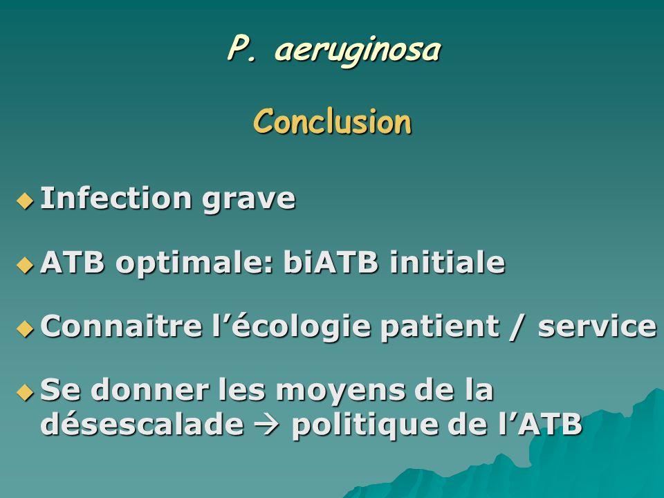P. aeruginosa Conclusion
