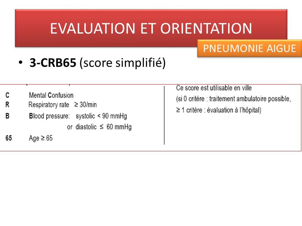 EVALUATION ET ORIENTATION
