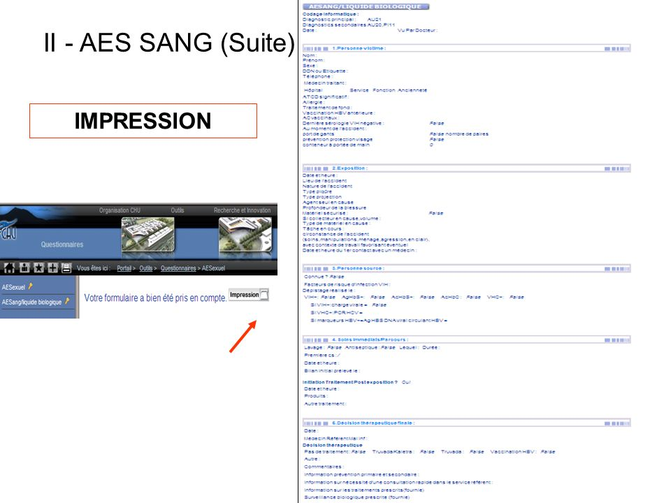 II - AES SANG (Suite) IMPRESSION