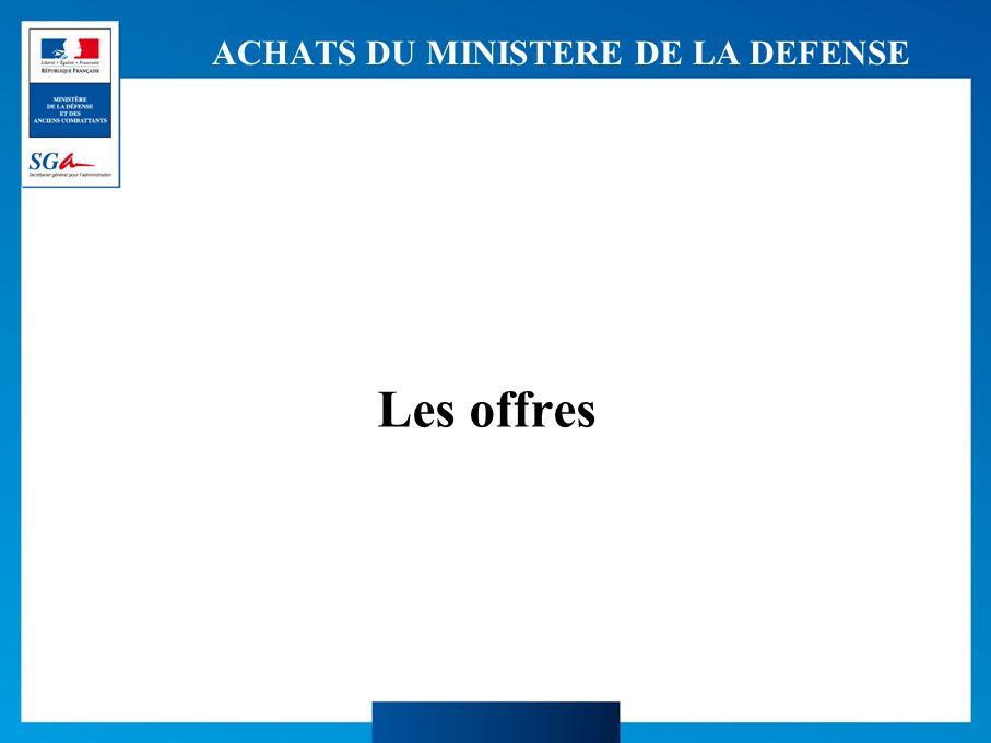 ACHATS DU MINISTERE DE LA DEFENSE